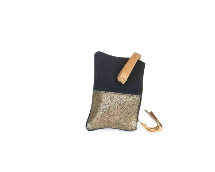 Handcrafted genuine leather purse.